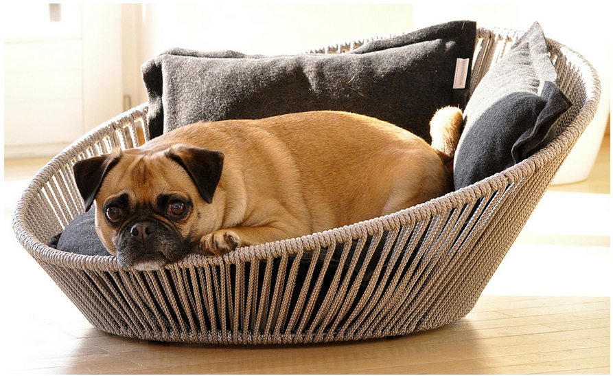 Luxury Orthopaedic Siro Twist Dog Basket