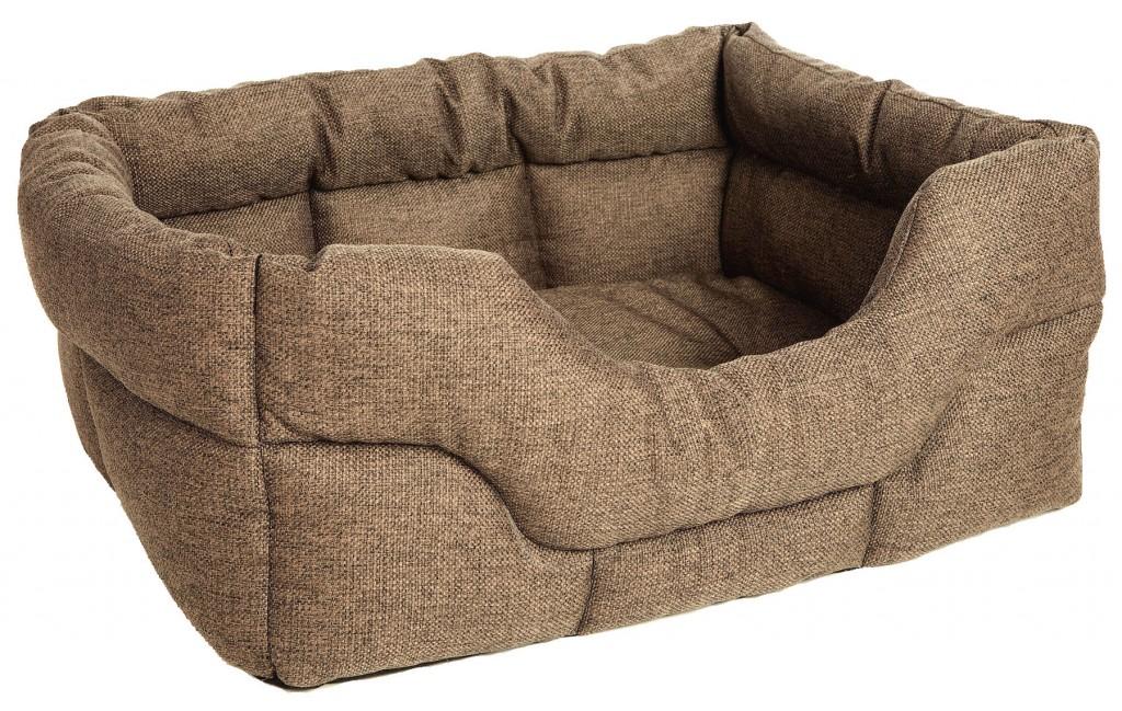 Superior Basket Weave Drop Front Rectangle Dog Beds for cocker spaniels