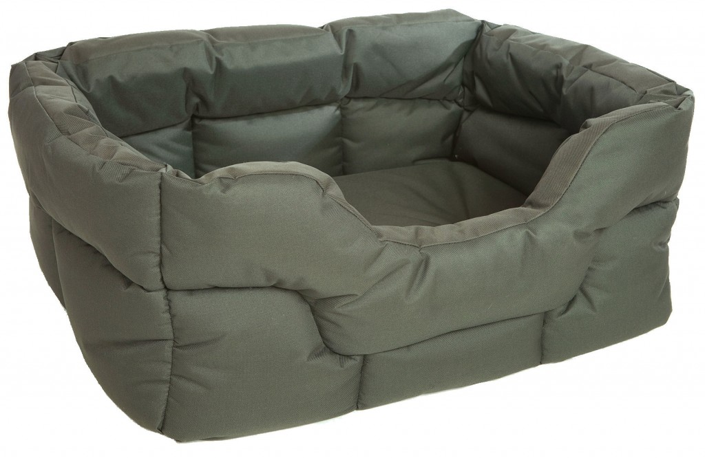 Country Heavy Duty Waterproof Rectangular Drop Front Dog Beds by Pets and Leisure