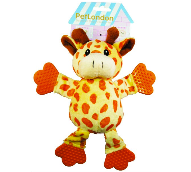 Giraffe Plush Puppy Teething Dog Toy