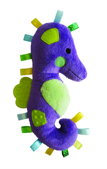 Sammy Seahorse Plush Puppy Teething Dog Toy