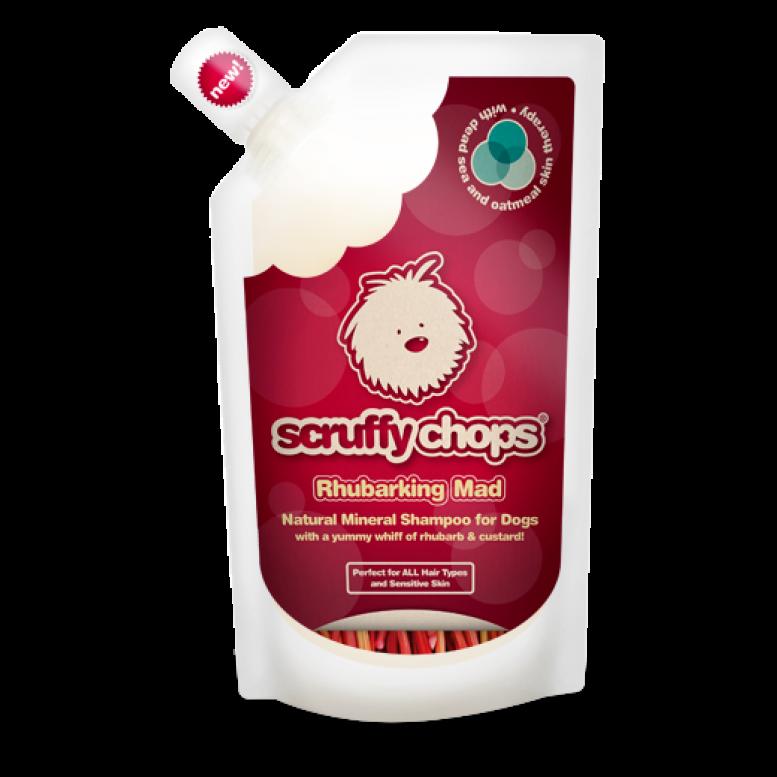 ScruffyChops Rhubarking Mad Luxury Organic Dog Shampoo 250ml
