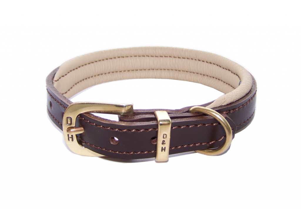 Dogs and Horses Colours Collection Classic Dog Collars Brown and Cream
