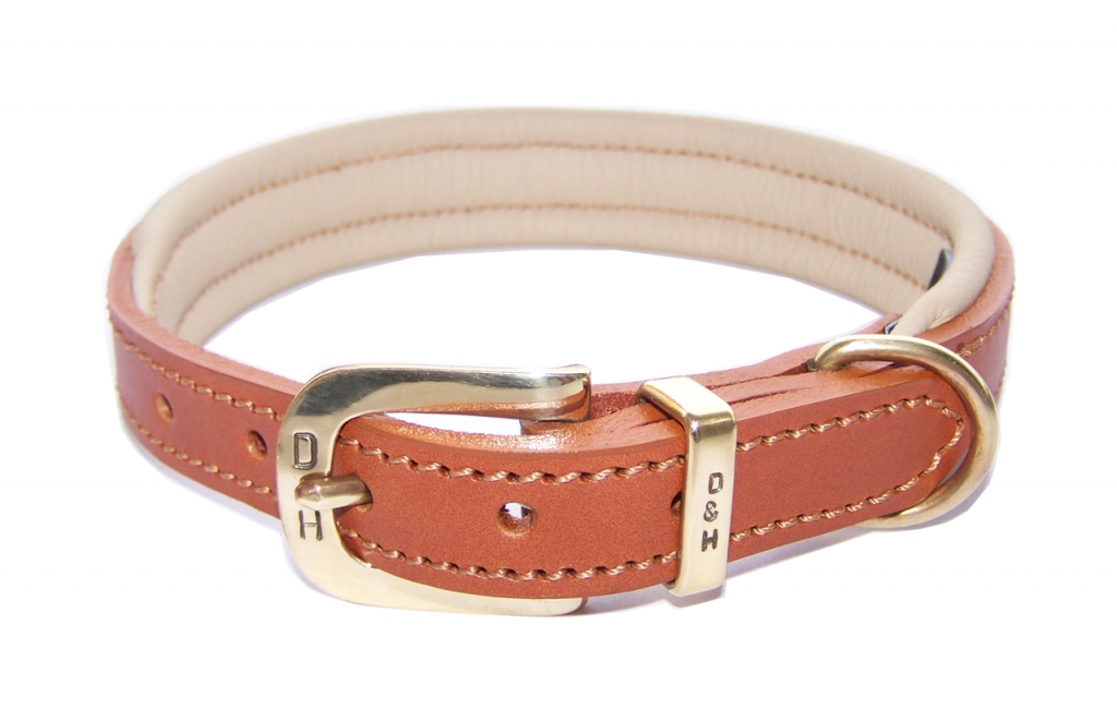Dogs and Horses Colours Collection Classic Dog Collars Tan and Cream