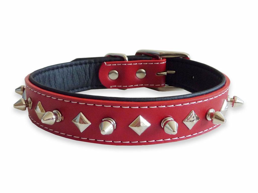 Red Studded Dog Collar