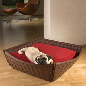 memory foam dog bed leather