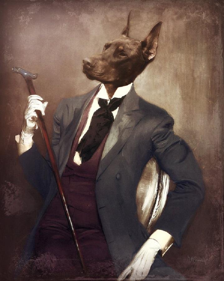 Old Fashioned Dog Portraits