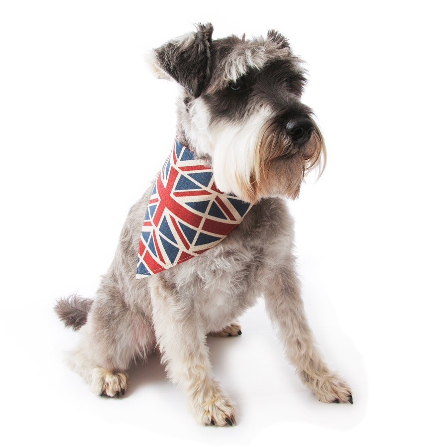 Mutts and Hounds Union Jack Linen Dog Neckerchief