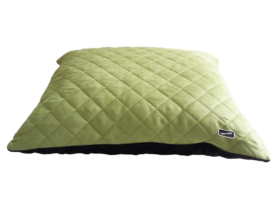 Chill Out Luxury Quilted Cushion Dog Beds Apple Green from £39.99