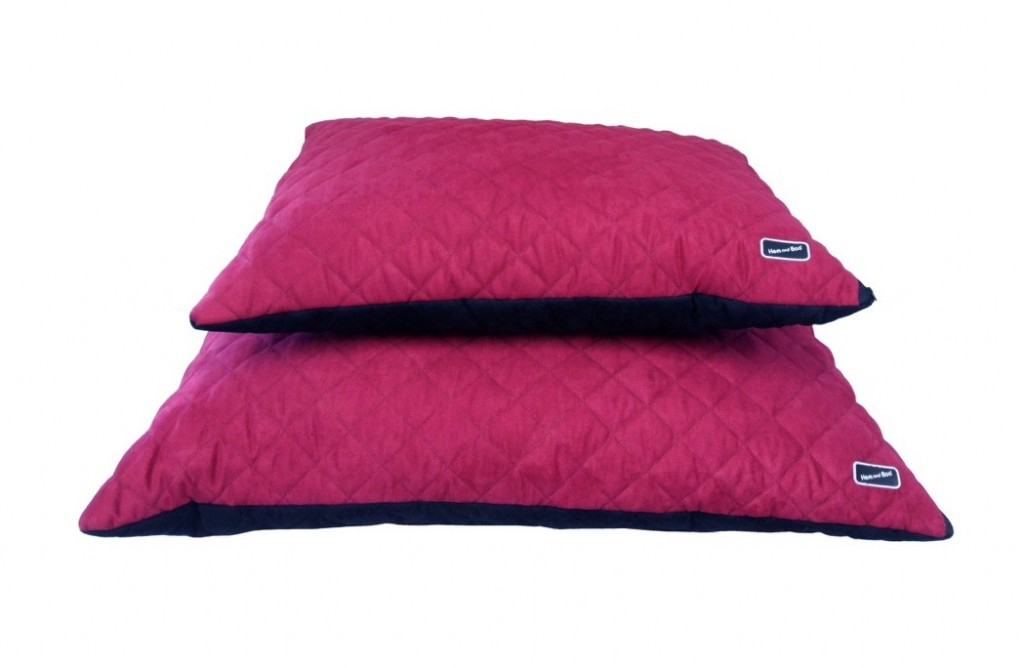 Chill Out Luxury Quilted Cushion Dog Beds Raspberry from £39.99