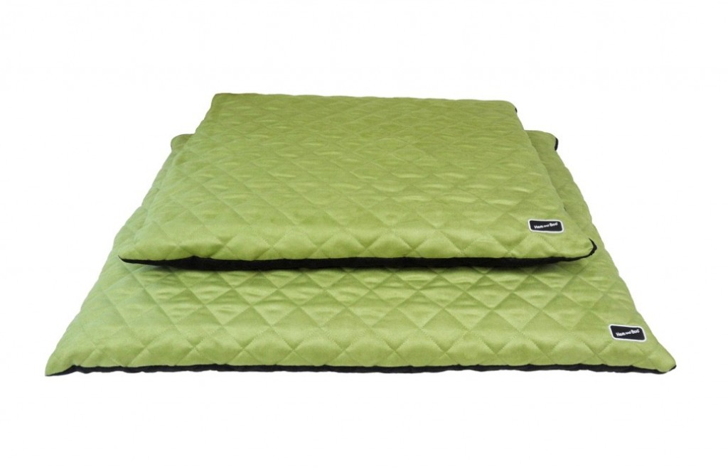 Chill Out Luxury Quilted Flat Dog Beds Apple Green from £39.99