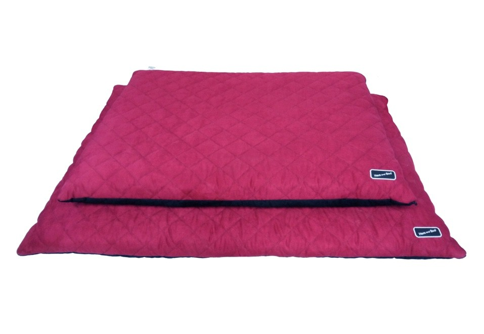 Chill Out Luxury Quilted Flat Dog Beds Raspberry from £39.99