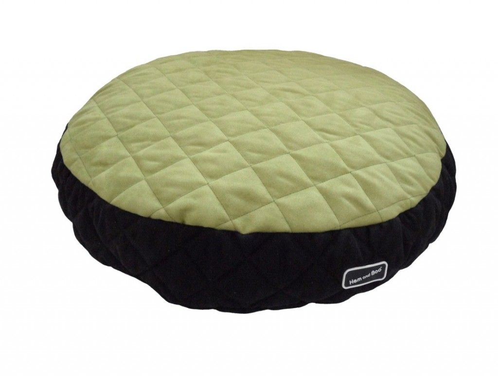 Chill Out Luxury Quilted Round Cushion Pet Beds Apple Green from £34.99