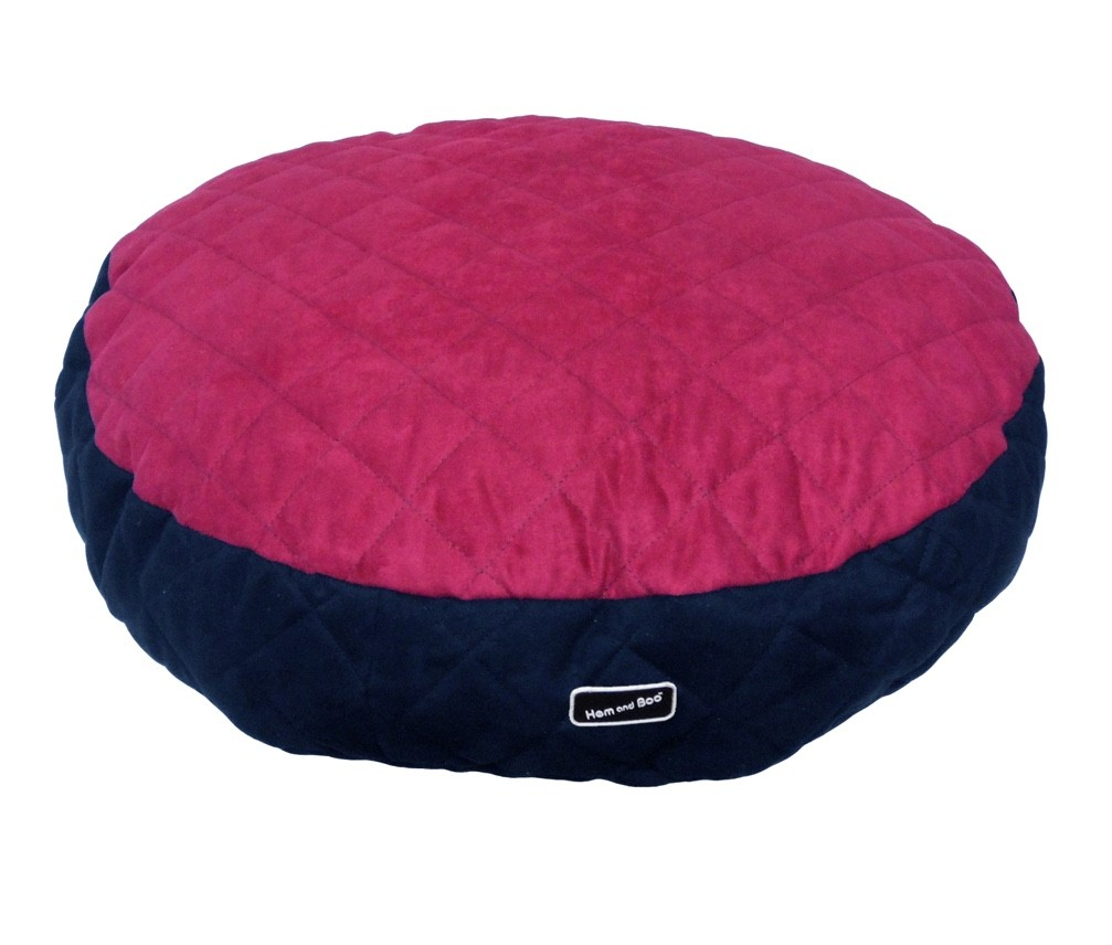 Chill Out Luxury Quilted Round Cushion Pet Beds Raspberry from £34.99