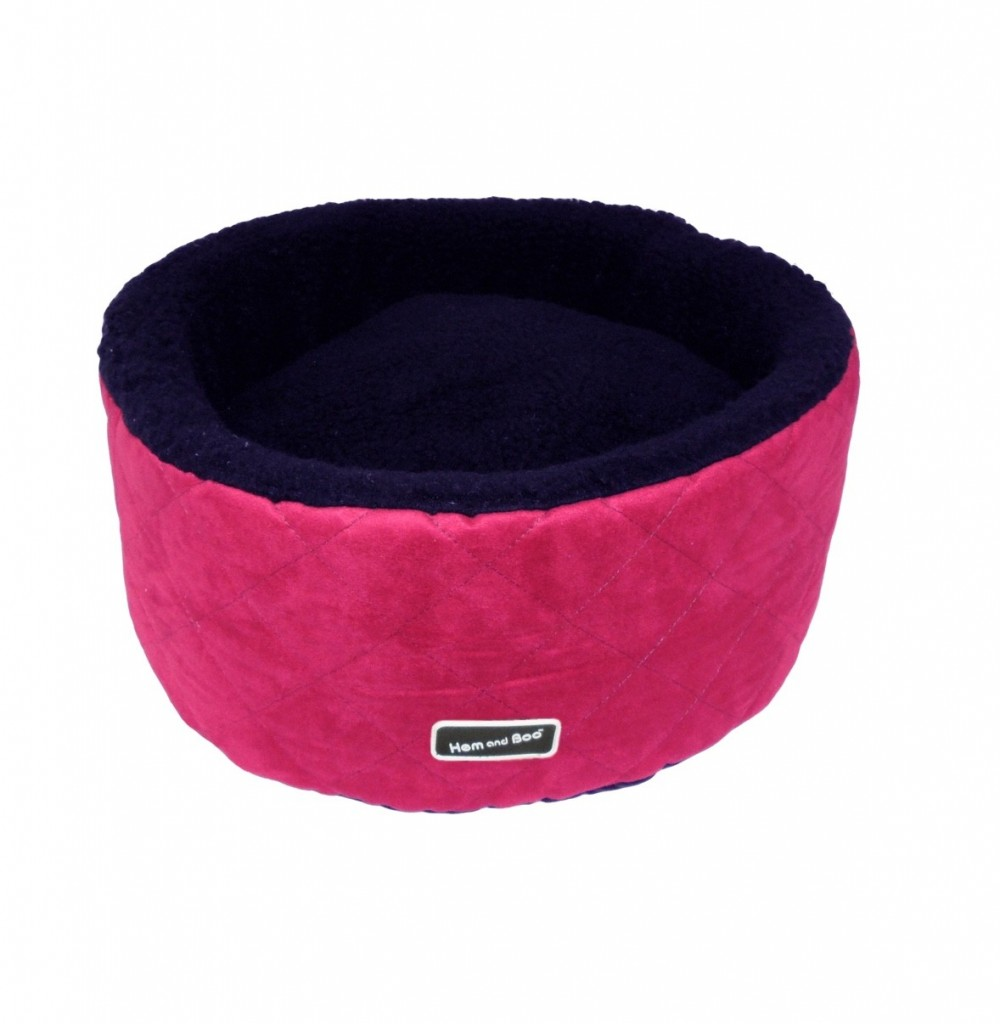 Chill Out Round Small High Sided Dog Beds Raspberry £29.99
