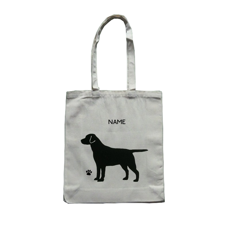 Personalised Labrador Dog Cotton Tote Bag