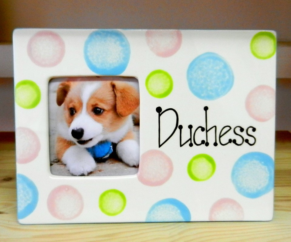 Personalised Spotty Pet Photo Frame