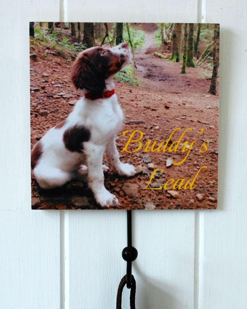 Personalised Photo Dog Lead Hook