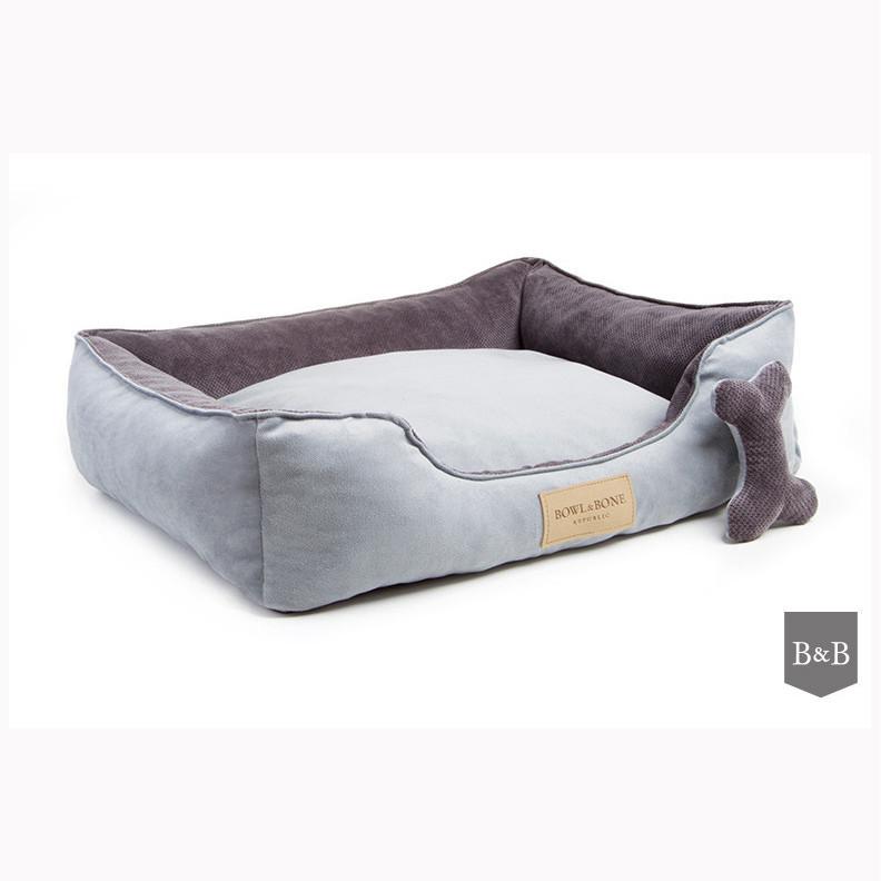 Bowl and Bone Luxury Dog Beds Classic Grey