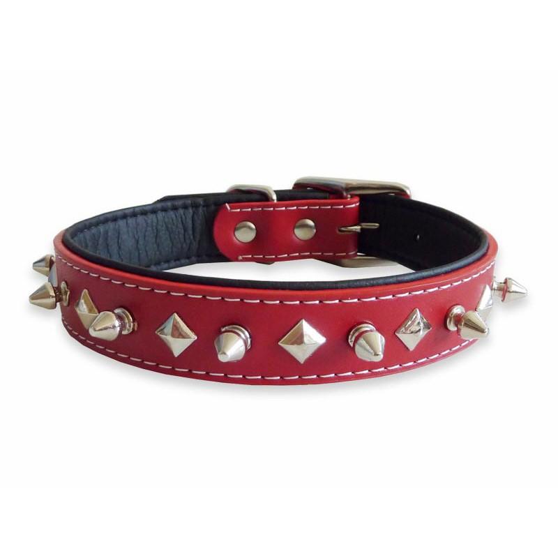 Halloween Dog Collar Studded Red