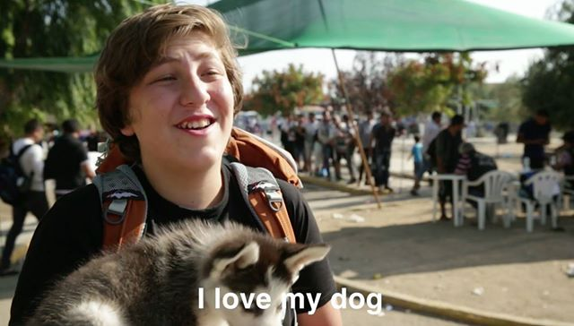 aslan and rose syrian boy refugee and his dog