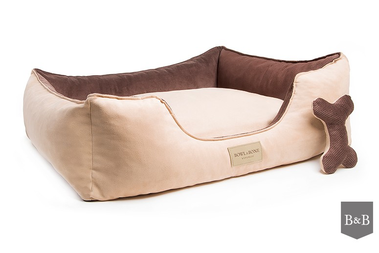 Bowl and Bone Luxury Dog Beds Classic Brown