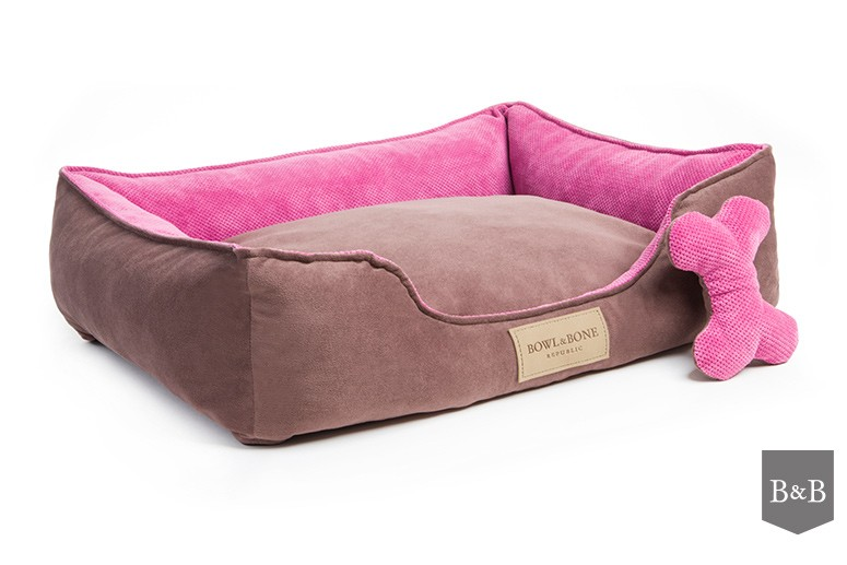Bowl and Bone Luxury Dog Beds Classic Pink