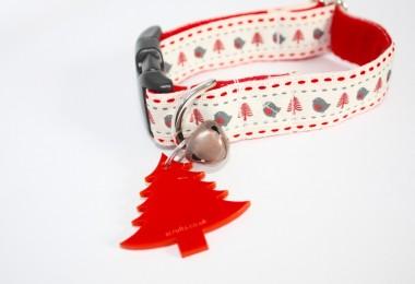 Robin Christmas Dog Collar
