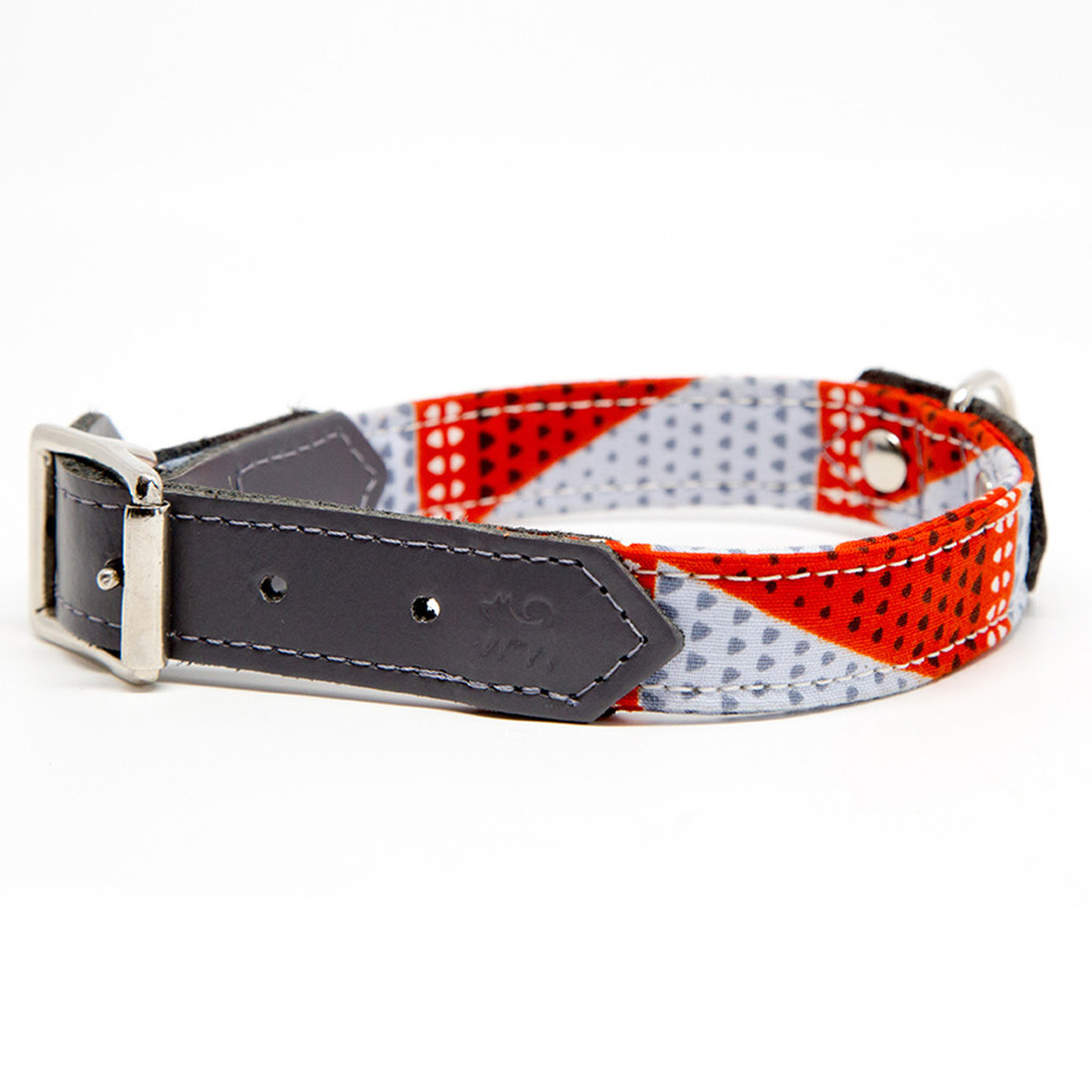 Hiro and Wolf Grey Triangles stylish Dog Collar