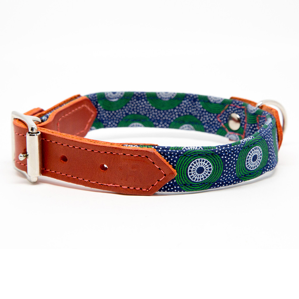 Hiro & Wolf Shweshswe Snowflake Dog Collar