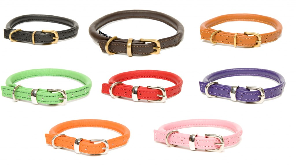 Dogs and Horses Traditional Leather Dog Collars Rolled UK