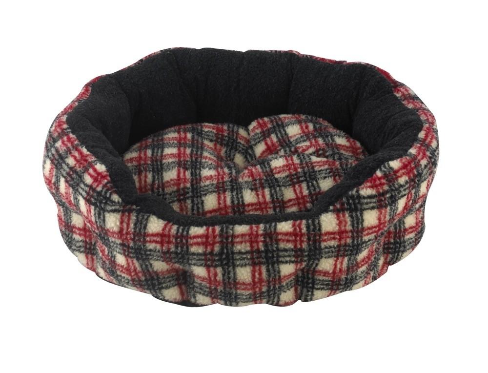 Snug and Cosy Verona Oval Tartan Snuggle Bed