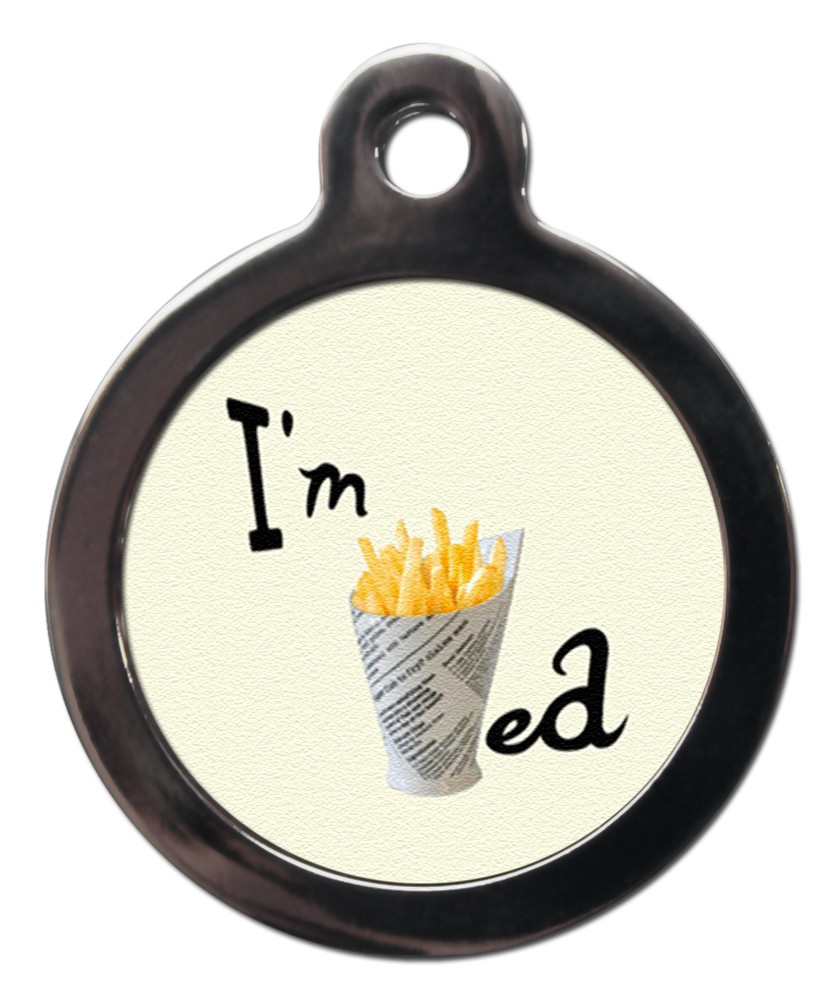 French Fries Chips Dog Tag