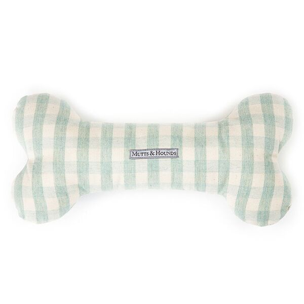mint check designer dog toy mutts and hounds