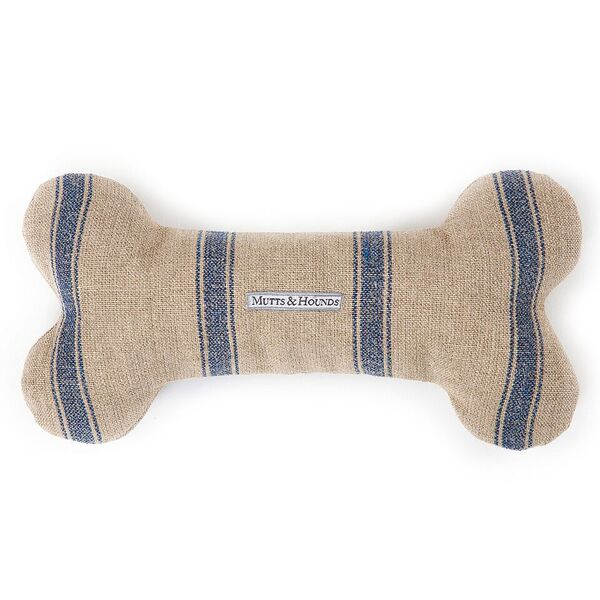 blue stripe dog toy M&H