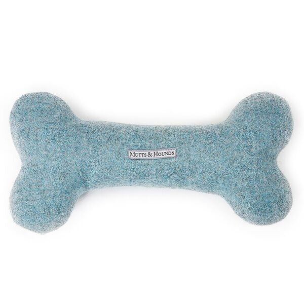 blue tweed dog toy