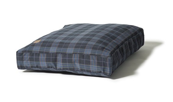 Lumberjack Navy And Grey Box Duvet Dog Bed by Danish Design