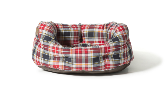 Lumberjack Red And Grey Deluxe Slumber Dog Bed by Danish Design