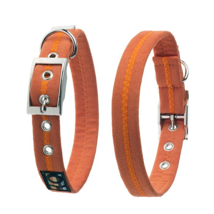 soft orange dog collar