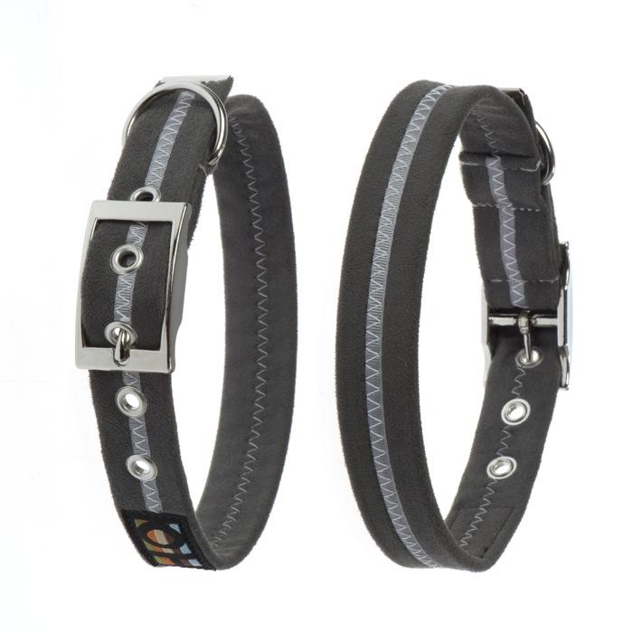 graphite grey soft dog collar uk