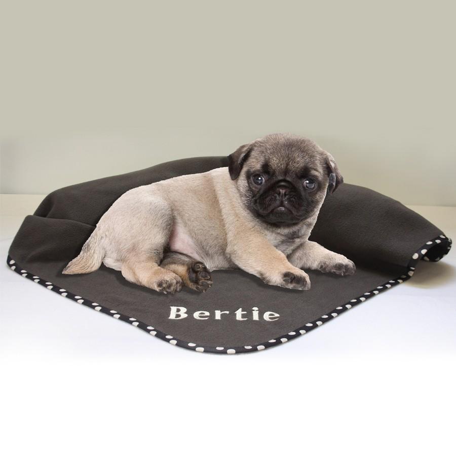grey personalised pet blanket