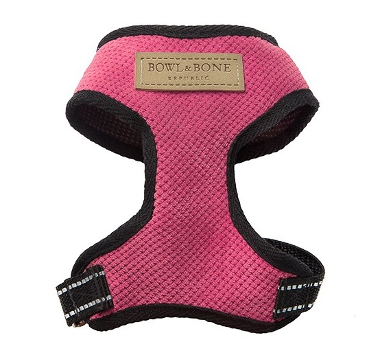 Bowl and Bone Pink Dog Harnesses