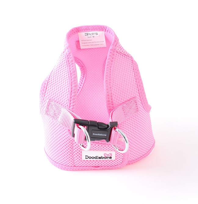 pink snappy dog harness doodlebone uk