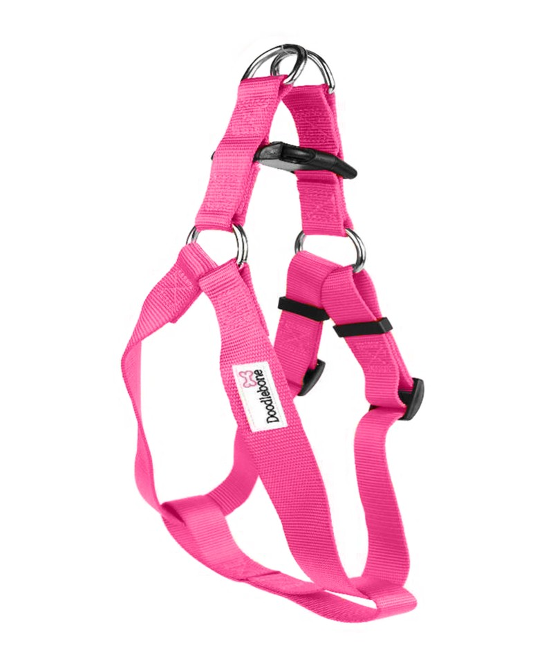 adjustable pink dog harness