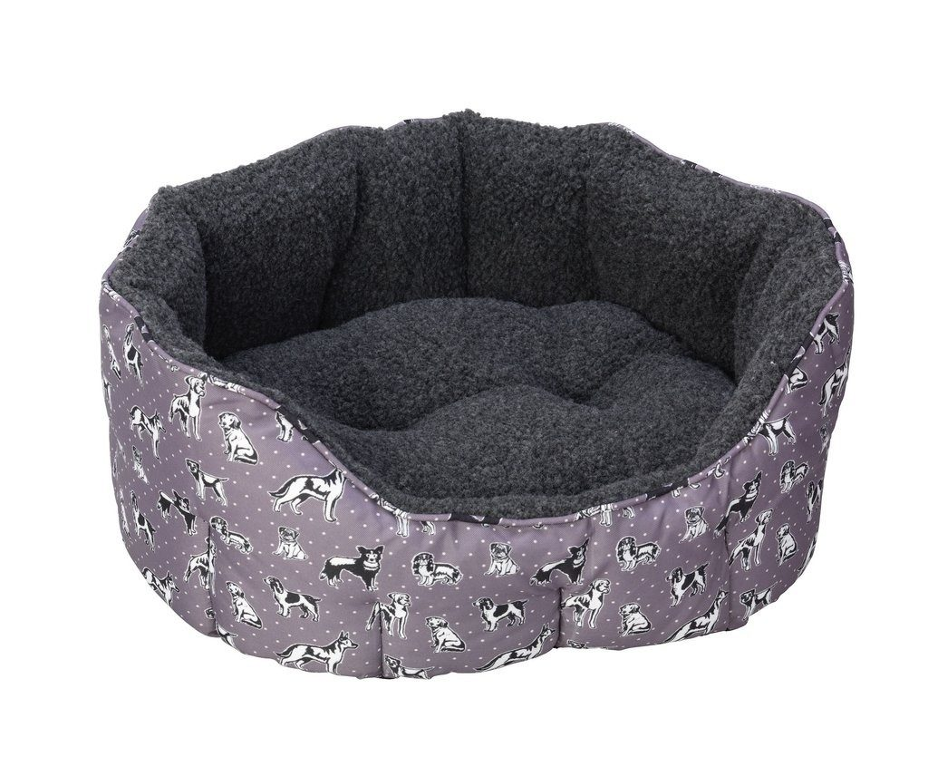 funky dog print bed