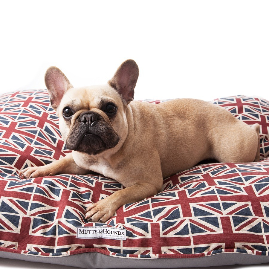 Union Jack pillow dog bed Mutts and Hounds