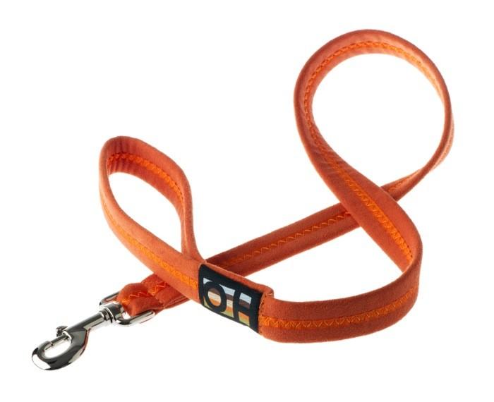 soft orange dog lead