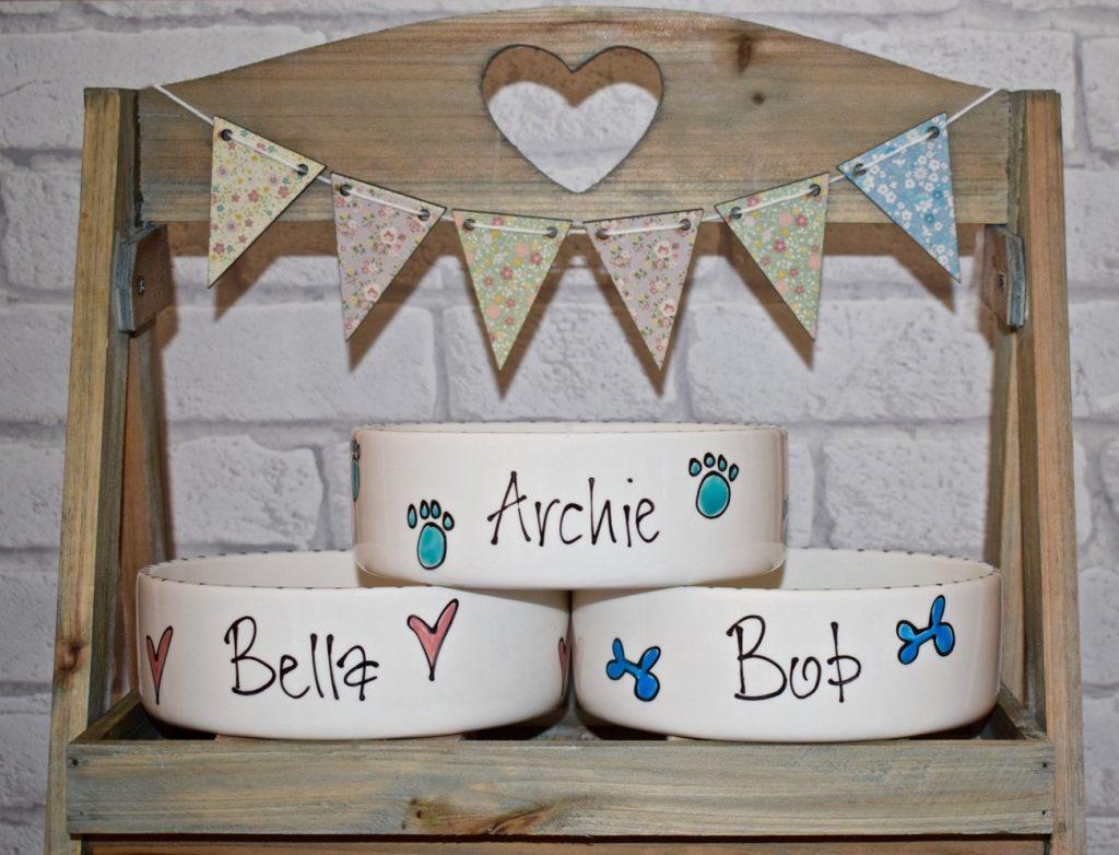 personalised dog bowls uk