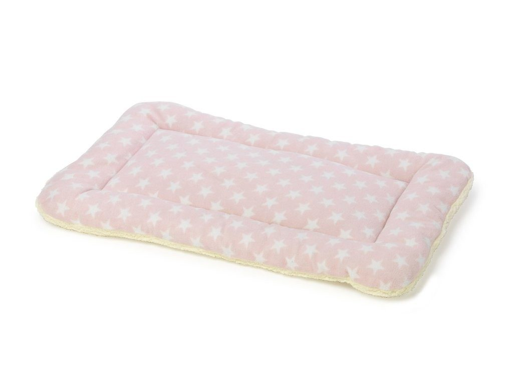 pink puppy crate mat