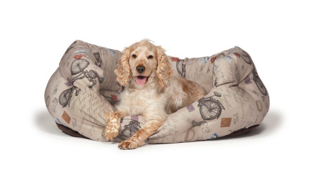 bicycle print slumber dog bed